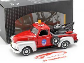 Chevrolet C3100 reboque caminhão vermelho / prata 1:43 Cararama