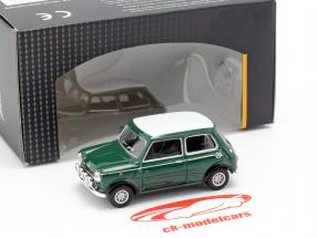Mini Cooper met racing lampen groen / wit 1:43 Cararama