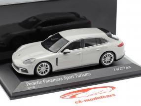 Porsche Panamera Sport Turismo 4E-Hybrid 2017 kreidegrau 1:43 Minichamps