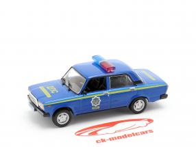 VAZ 2107 police bleu en cloque 1:43 Altaya