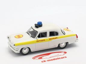 Wolga GAZ M21 police white / yellow in Blister 1:43 Altaya