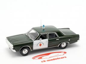 Dodge Dart polizia verde scuro / bianco in bolla 1:43 Altaya