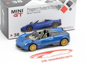 Pagani Huayra Roadster LHD Francia blauw 1:64 TrueScale