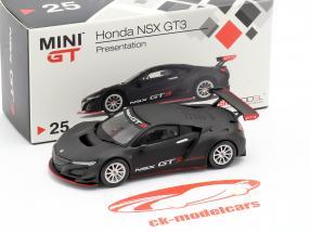 Honda NSX GT3 Presentation Car negro 1:64 TrueScale