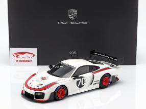 Porsche 935 #70 2018 baserede på 911 (991 II) GT2 RS  med udstillingsvindue 1:18 Spark