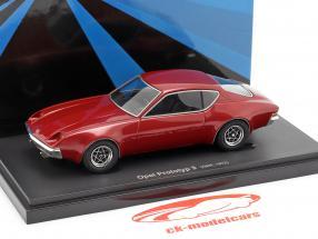 Opel prototype 3 Opførselsår 1972 mørk rød 1:43 AutoCult