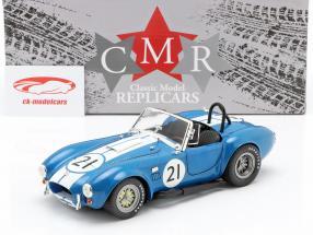 Shelby Cobra 427 Racing #21 1965 blå / hvid 1:18 CMR