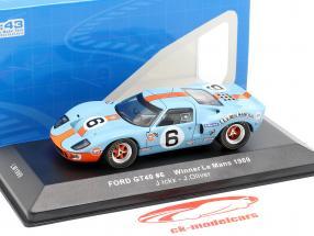 Ford GT40 Gulf #6 ganador 24h LeMans 1969 Ickx, Oliver 1:43 Ixo