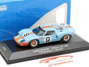 Ford GT40 Gulf #9 vincitore 24h LeMans 1968 Rodriguez, Bianchi 1:43 Ixo