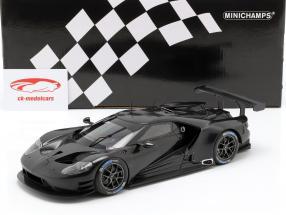 Ford GT Testcar 2016 zwart 1:18 Minichamps