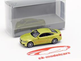 BMW M4 coupe Bouwjaar 2015 geel metalen 1:87 Minichamps