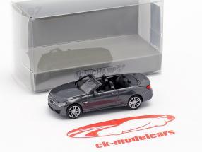 BMW M4 cabriolé ano de construção 2015 cinza metálico 1:87 Minichamps