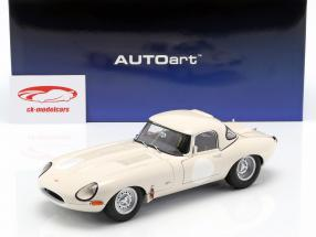 Jaguar Lightweight E-Type with removable Top white 1:18 AUTOart