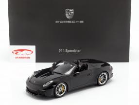 Porsche 911 (991 II) Speedster year 2019 with showcase black 1:18 Spark