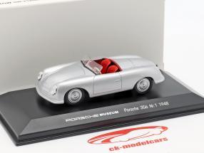 Porsche 356 No.1 año de construcción 1948 plata 1:43 Welly