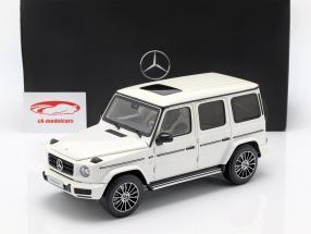 Mercedes-Benz G-Klasse W463 40 jaar 2019 diamant wit helder 1:18 Minichamps
