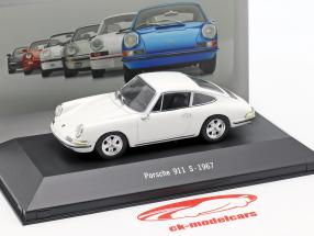Porsche 911 S anno di costruzione 1967 bianco 1:43 Atlas
