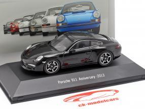 Porsche 911 (991) 50 ° anniversario 2013 nero 1:43 Atlas