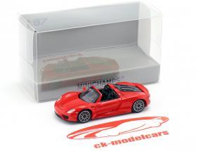 Porsche 918 Spyder anno di costruzione 2013 rosso 1:87 Minichamps