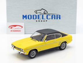 Ford Capri MK I year 1973 yellow / black 1:18 Model Car Group