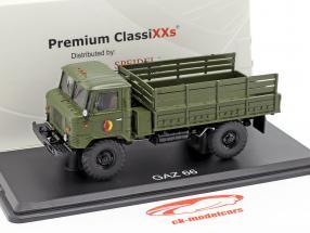 GAZ 66 plataforma camión NVA vehículo militar oscuro oliva 1:43 Premium ClassiXXs