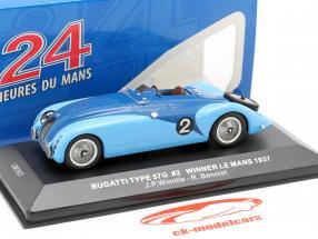 Bugatti Type 57G #2 Wimille, Benoist Vinder 24h LeMans 1937 1:43 Ixo