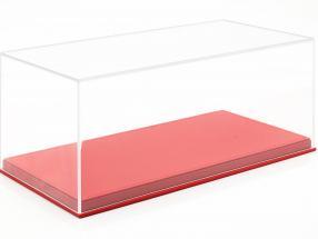 Hochwertige Acryl Vitrine til Modelbiler i Scale 1:18 rød BBR