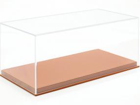 Haute qualité Acrylique Vitrine pour Voitures de modèle dans le Échelle 1:18 brun clair BBR