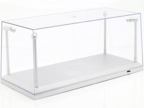 singolo vetrina argento con 4 Guidato Lampade per modelcars in scala 1:18 Triple9