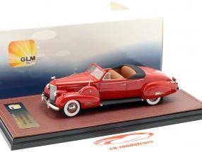Cadillac V16 convertibile coupe Open Top anno di costruzione 1938 rosso 1:43 GLM