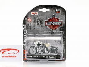 Harley-Davidson FLH Duo Glide anno di costruzione 1962 nero / bianco / cromo 1:24 Maisto