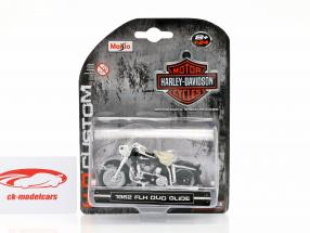 Harley-Davidson FLH Duo Glide year 1962 black / white / chrome 1:24 Maisto