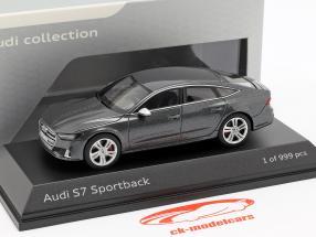 Audi S7 Sportback Daytona cinza 1:43 Jaditoys