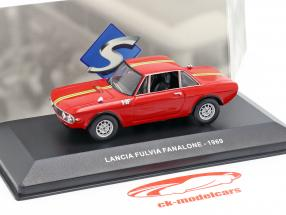 Lancia Fulvia Fanalone Opførselsår 1969 rød 1:43 Solido