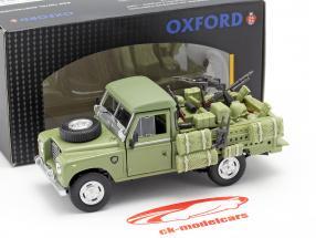 Land Rover Series III 109 vehículo militar oliva 1:43 Cararama