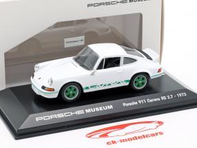 Porsche 911 Carrera RS Année 1973 blanc 1:43 Welly