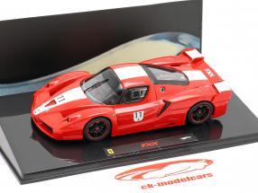 Ferrari FXX º 11 vermelho com listras brancas 1:43 HotWheels Elite
