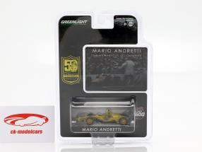 Mario Andretti 50 aniversário Indy 500 campeão 1969 Dallara Universal Aero Kit 1:64 Greenlight