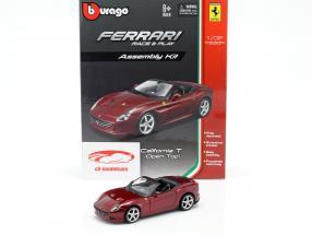 Ferrari California T Open Top oscuro rojo asamblea equipo 1:32 Bburago
