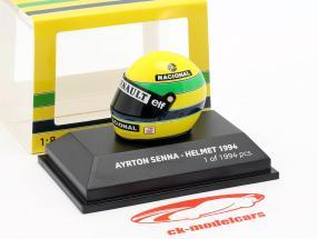 Ayrton Senna McLaren MP4/4 San Marino GP fórmula 1 1994 capacete 1:8 Minichamps