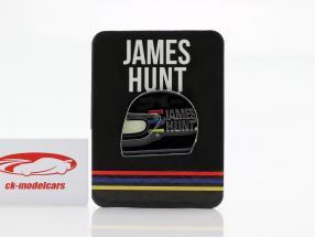 James caza McLaren M23 campeón del mundo fórmula 1 1976 botones casco