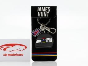 James Hunt McLaren M23 campeão do mundo fórmula 1 1976 Chaveiro capacete