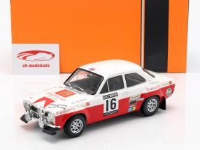 Ford Escort RS 1600 Mk1 #16 5 RAC rali 1971 Mäkinen, Liddon 1:18 Ixo