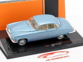 Jaguar Mark X ano de construção 1961 azul metálico 1:43 Ixo