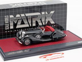 Mercedes-Benz 540K Roadster especial Sindelfingen ano de construção 1939 preto 1:43 Matrix