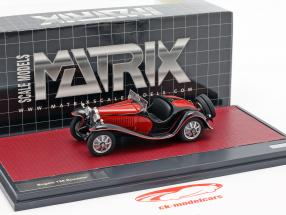 Bugatti T55 Roadster Opførselsår 1932 rød / sort 1:43 Matrix