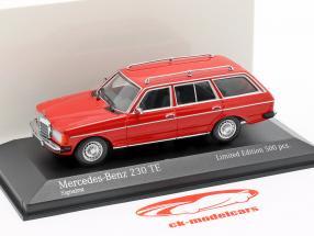 Mercedes-Benz 230 TE (W123) año de construcción 1982 rojo 1:43 Minichamps