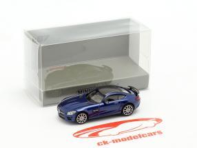 Mercedes-Benz AMG GTS Opførselsår 2015 mørkeblå metallisk 1:87 Minichamps