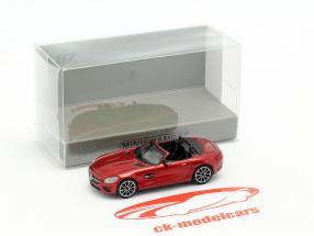 Mercedes-Benz AMG GT S Roadster Baujahr 2015 rot metallic 1:87 Minichamps