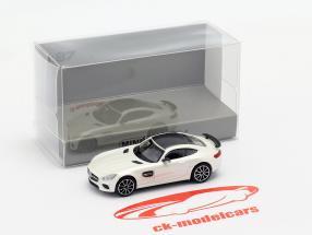 Mercedes-Benz AMG GTS Opførselsår 2015 hvid metallisk 1:87 Minichamps